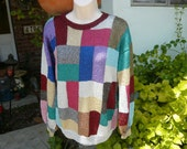 hand Knitted metalic Sweater