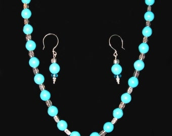 Turquoise (Necklace and Earrings)