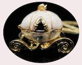 Cinderella's Pumpkin Carriage Locket Necklace - Vintage - Disney