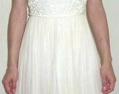 Gorgeous vintage 1950s tea length wedding dress ivory by Donovan Galvani