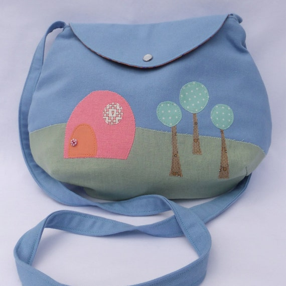 Applique Pink Marshmallow House Bag