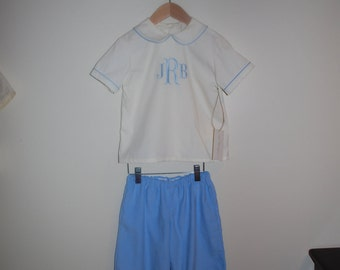 Monogram Peter Pan shirt and matching Cordoroy Pants
