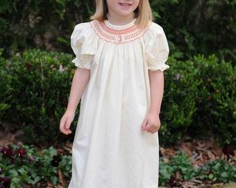Monogram bishop Style Dress