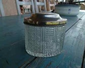 vintage pot with silver lid