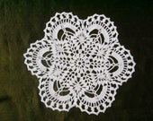 Small crochet doily , white doilies ,round 9 inches ,lace ,