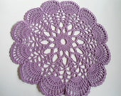 Crochet doily purple round small doilies  8 inches