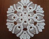 White crochet doily round