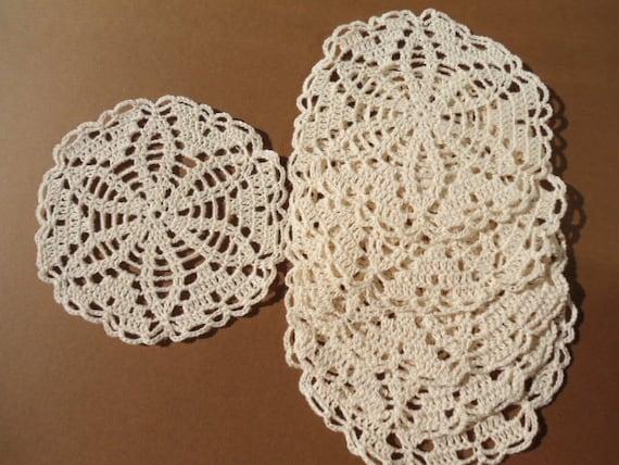 欣赏原创设计钩针杯垫的图案花片(桌巾式系列) - maomao - 我随心动