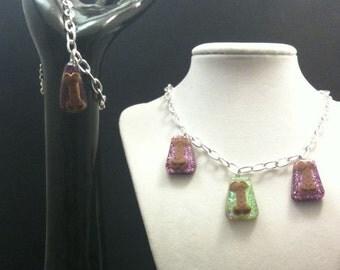 Dog Biscuit Charm Necklace and Bracelet Set