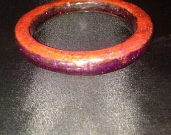 Asymmetric Two-Tone Pink Bangle