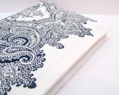 Journal indigo blue white cotton paisley wood-block print, travel journal, A6 notebook, travel journal
