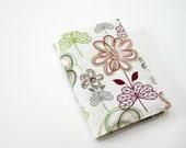 Pocket Moleskine cover, summer garden, pretty fabric cover for 9x14cm Moleskine notebook or planner
