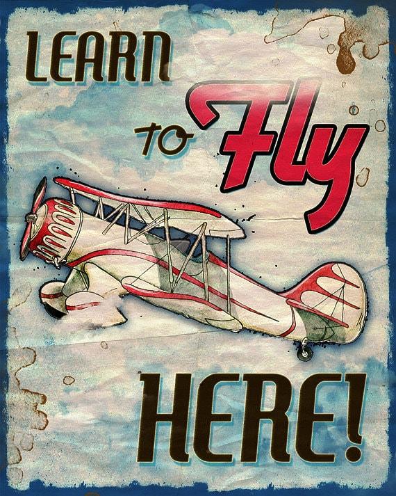 Vintage Airplane Poster 68