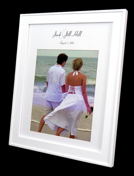 Personalized 11 x 14 Wedding Photo Mat