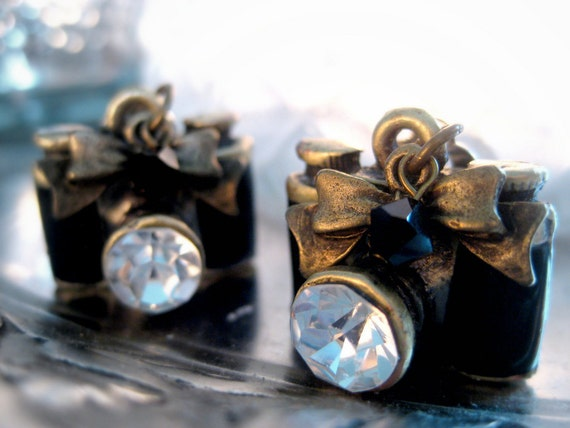 Items Similar To Vintage Camera Clip On Earrings