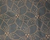 Denim Fabric  Cotton Flocked Design 5 yard piece