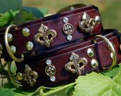 The Royal Pup Signature Leather Dog Collar by Pleasant Pup Custom Leatherworks