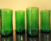 Carlsberg Recycled Emerald Beer Bottle Glasses - Set of 4