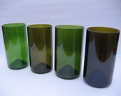 Mid Sized Recycled Wine Bottle Glasses - Set of 8