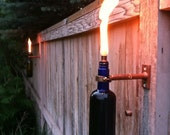 Wine Bottle Tiki Torches - Improved - Set of 8