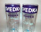 Svedka Vodka Recycled Bottle Glasses - Set of 2