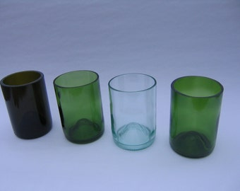 Tumbler Recycled Wine Bottle Glasses - Set of 6