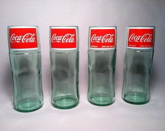 Recycled Coke Bottle Glass - Tall - Set of 4