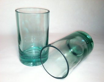 360 Vodka Recycled Bottle Tumbler Glasses - Set of 2