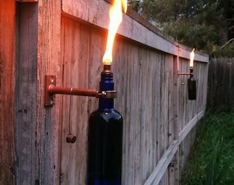 Wine Bottle Tiki Torches - Hardware - Set of 2