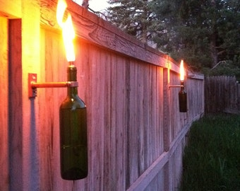 Wine Bottle Tiki Torches - Improved - Set of 6
