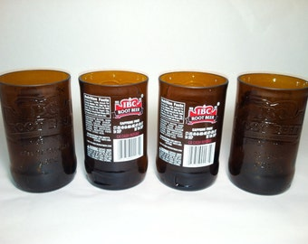 IBC Root Beer with label Recycled Glass - Set of 4