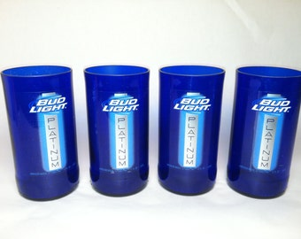 Bud Light Platinum Purple Recycled Glasses - Set of 4