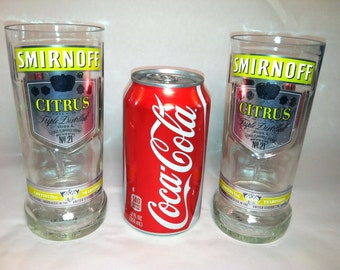 Smirnoff Citrus Small Recycled Bottle Glasses - Set of 2