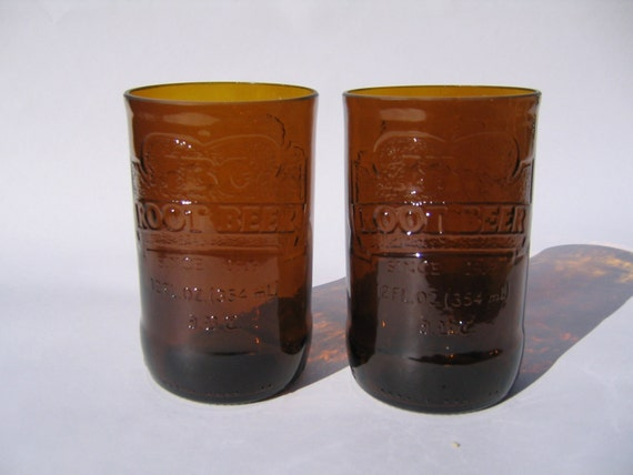IBC Root Beer Recycled Glass - Set of 2