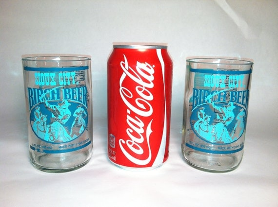 Sioux City Birch Beer Recycled Bottle Glasses - Set of 2