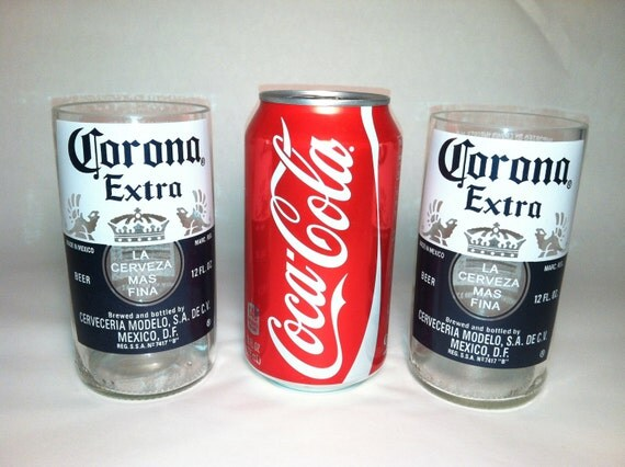 Corona extra recycled glasses set of 2 for How to make corona glasses