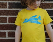 Hand sewn infant or toddler jet airplane t shirt