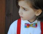 Valentine's Day conversation hearts clip on bow tie