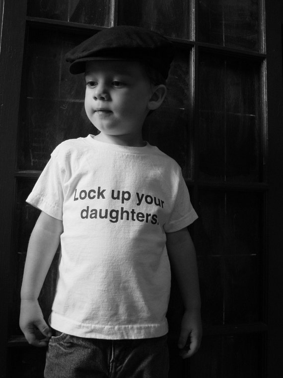 SALE Lock up your daughters kids t-shirt