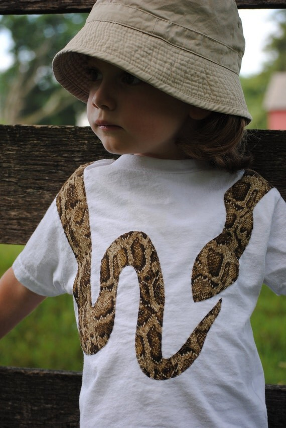 Custom for Jeanette only~Snake-skin print snake toddler t shirt