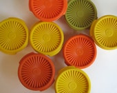 Vintage Tupperware Servaliers - set of eight