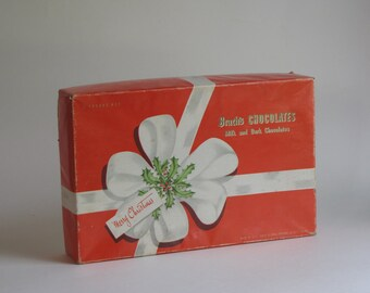 Vintage Candy Box - Brach's Chocolates - red and white