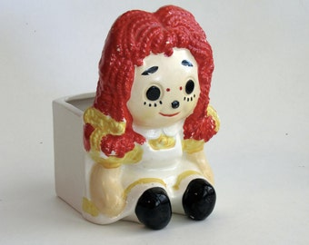 Vintage Raggedy Ann Inarco Planter / Pencil Holder