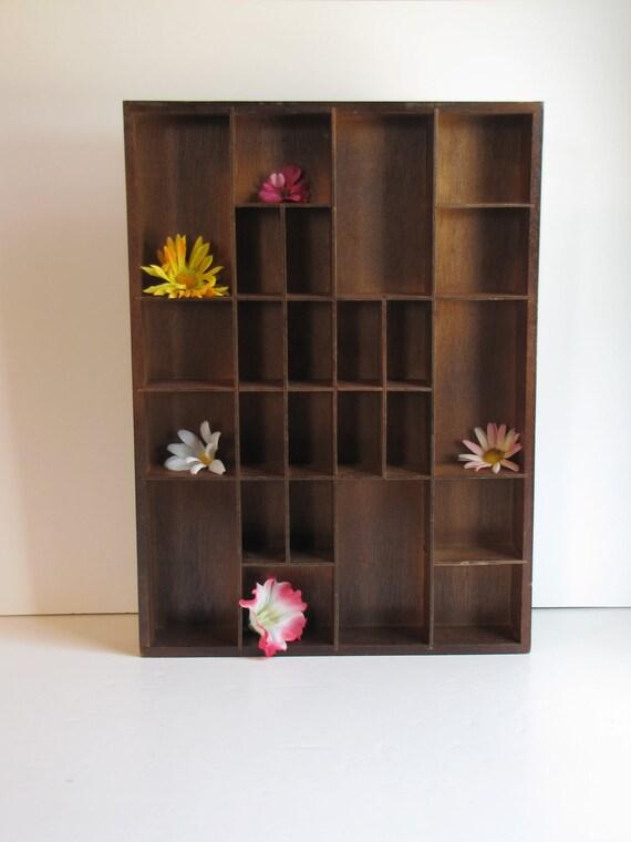 Vintage Wooden Curio Box / Shadow Box / Wall Display