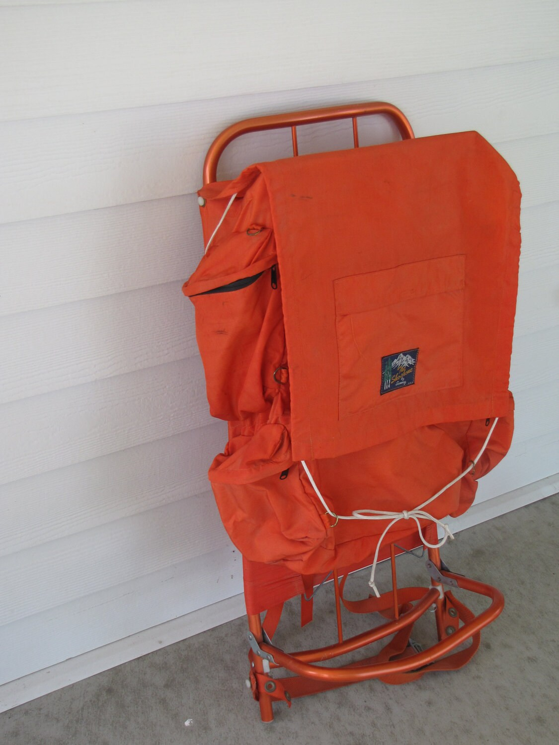 Vintage Emergency Orange External Frame Shoshone By Seaway