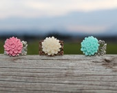 Indie-Inspired Cabochon Dahlia Ring.  Choose your color.  Ready to Ship.
