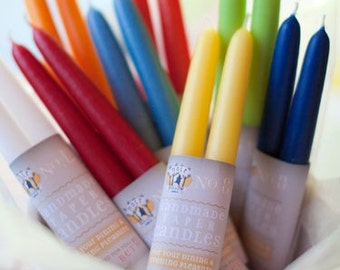 """Hand Dipped Taper Candles - Unscented -  8"""" (6 pair box)"""
