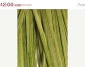 5 Extra Long Thin Olive  Green Solid Feather Hair Extensions (includes beads) :)