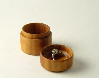 "Ring Box, Handturned from Reclaimed Apple Wood. 1.75"" Tall,  Wide"