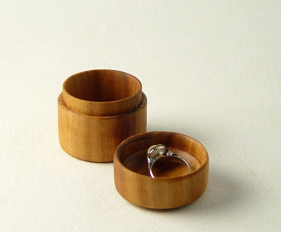 """Ring Box, Handturned from Reclaimed Apple Wood. 1.75"""" Tall,  Wide"""